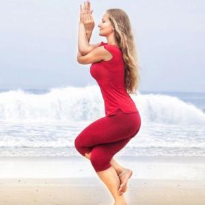 yoga pose of the month garudasana  the eagle  follow